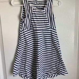 Navy & white striped swing dress ⚓️⛵️